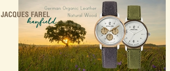 Jaques Farel Hayfield German Organic Leather Natural Wood